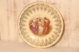 Plat décoratif en porcelaine de Limoges