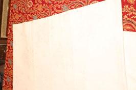 Nappe blanche damassée  coton motif de roses