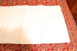 Nappe blanche damassée coton