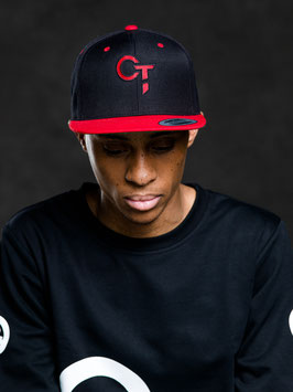 "Snapback (unisex) Black/Red - logo ""OT"""