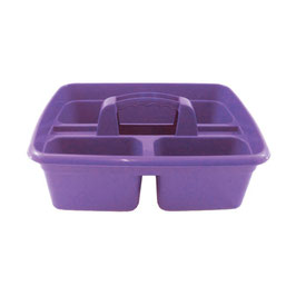 Perry Equestrian 3 Compartment Tack Room Tidy Tray Purple