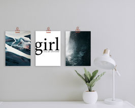 Poster-Bundle 'Volcanic Girl' (A4)