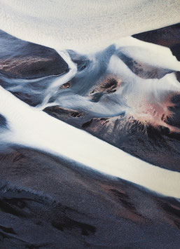 Einzel-Postkarte 'Flowing Lines'