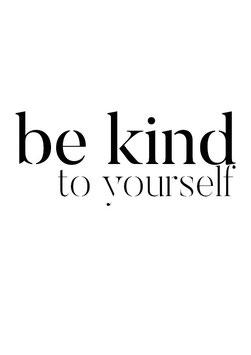Einzel-Postkarte 'be kind'