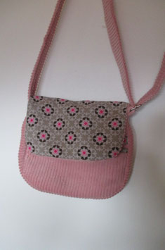 Sac en velours rose