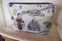 Trousse de toilette motif PARIS