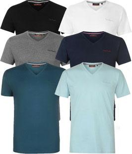 ✔ Pierre Cardin Herren V-Ausschnitt T-shirt