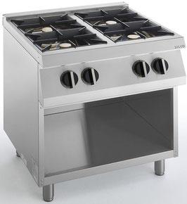 Cucina 4 fuochi gas linea 700
