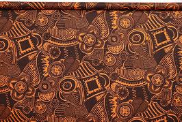 Muster, geometrisch, in orange/braun, BW140
