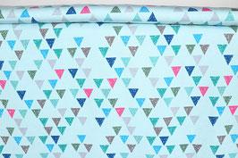 Dreiecke, hellblau