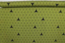 Dreiecke, olivgold/schwarz