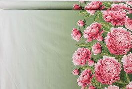 Paneel Bordüre, Blüten und Farbverlauf