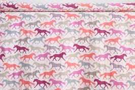 Pferde, Silhouetten einfarbig und gemustert