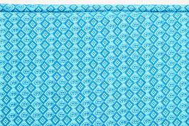 Afrikanisches Muster, blau/hellblau