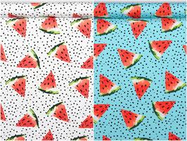 Melonenstücke in weiß und türkis