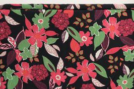 Große Blumen, rot/grün/schwarz