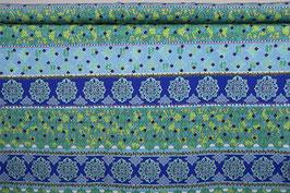 Muster, Streifen in grün/türkis