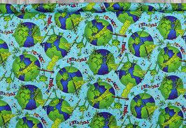 Umwelt und Frosch, go green!, blau/grün, PW