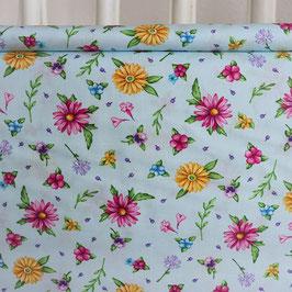 Frühlingsblumen pink, gelb, blau, lila
