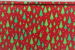 Astrakte Tannebäume, gepunktet, rot/grün, Riley Blake, PW