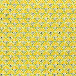 Sun & Lemon, Zitronen und bunte Punkte