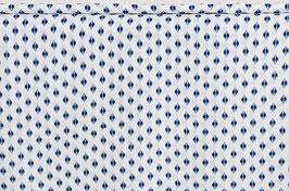 Viskosekrepp, blau/weiß, Muster