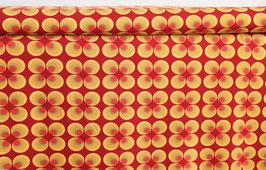 Retro Muster Kreise, gelb/rot
