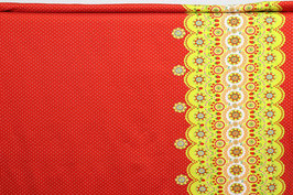 Bordüre gepunktet, Mandalas, Erdbeeren/Kirschen, rot/grün