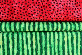 Melonenschale & Melonenkerne, grün/rot, TimelessTreasures, PW