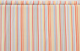 Klassische Streifen, rot/weiß/gelb/blau/beige