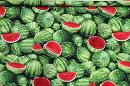 Wassermelonen, gestreift, grün/rot, PW