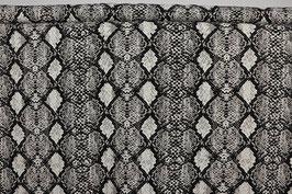 Schlangenschuppenmuster, schwarz/weiß