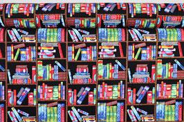 Bücher/ Bücherregal, bunt/schwarz, PW