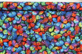 Schmetterlinge, bunt/schwarz, PW