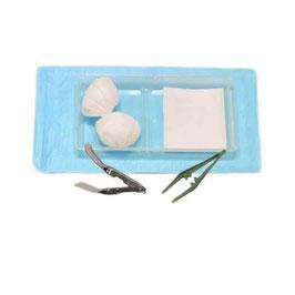 set ôte agrafe stérile avec mors métallique