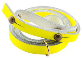 Sautoir pour corne jaune fluo