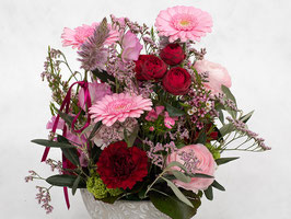 Gesteck Pink-Rosa