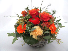 Blumenkorb fröhlich