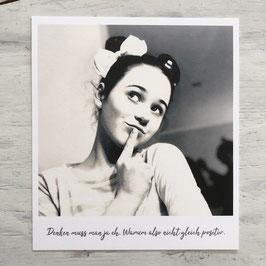 "Fotokarte ""Denk Positiv"""