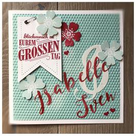 "Karte ""Zu Eurem grossen Tag"""