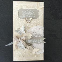 "Karte ""Happy Birthday - du bist einmalig"" No. 2"
