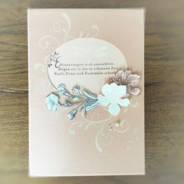 """Karte """"Erinnerungen sind unsterblich"""" rosa"""