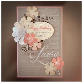 """Karte """"Happy flowers"""""""