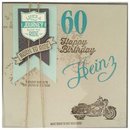 """Karte """"Born to ride """""""