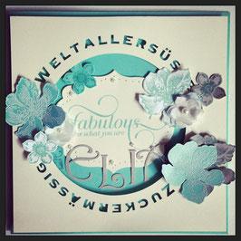 "Karte ""Fabulous Baby"" No. 1"