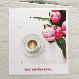 """Fotokarte """"Komm mal auf ein Kaffee"""""""