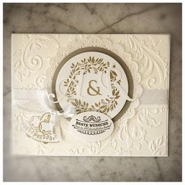 "Karte ""golden wedding"""