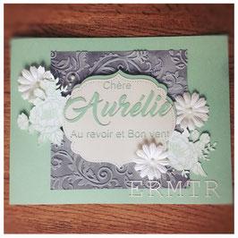 "Karte ""Au revoir"""
