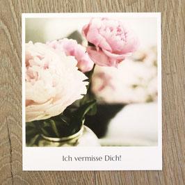 """Fotokarte """"Ich vermisse Dich!"""""""
