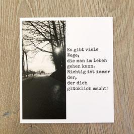 """Fotokarte """"Leben!"""""""